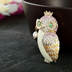 adorable, fashion, cute, owl, brooch