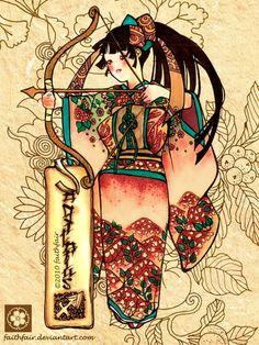 Japanese Sagitarius by ~faithfair on deviantART