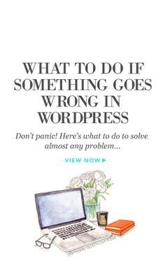 What to do if something goes wrong in WordPress