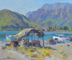 Baja Fishing Hut by Kevin Macpherson, Oil, 10 x 12