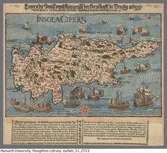 Rogel, Hans, 1532-1592. Cypern die Innsel vnnd Künigreich der Herrschafft zu Venedig zehörig, 1570. 51-2553 Houghton Library, Harvard Univer...