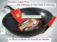 Ceramic Marble Coated Cast Aluminium Non Stick Wok 30 cm 12 inches by KW Marble Ware >>> You can get additional details at the affiliate link Amazon.com.