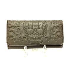 Loungefly Grey Skull Wallet
