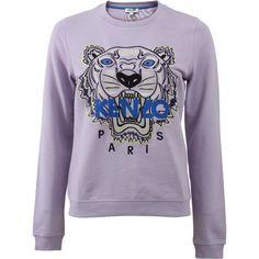 Kenzo Tiger Classic Sweatshirt ($280) ❤ liked on Polyvore featuring tops, hoodies, sweatshirts, sweaters, embroidered sweatshirts, kenzo tops, cotton sweatshirts, kenzo sweatshirts and kenzo