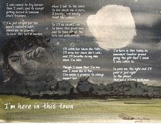 I'm here in this town #poetry #art #artandwords