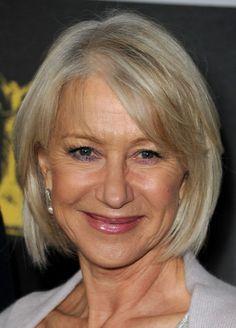 Flattering Bob Hairstyles for Older Women: Helen Mirren's Bob