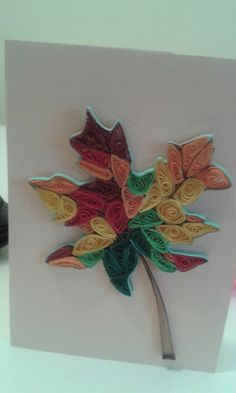 Vaahteranlehti/maple leaf by quilling