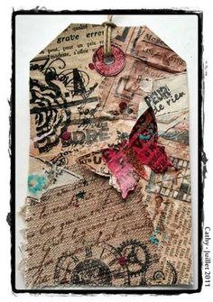 tag façon mixed media   mixed media,journals,crafts,etc.   Pinterest