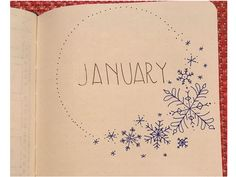 Winter Theme Bullet Journal Front Cover Designs - unknown Hello January - By ForeverGoodLife
