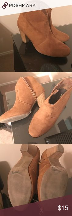 Brown booties Cute ankle booties . Worn once sz 8 Euc Report Shoes Ankle Boots & Booties