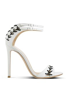 Gianvito Rossi White Ankle Strap Sandal Fall 2014 #Shoes #Heels