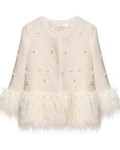 Shop White Long Sleeve Applique Faux Fur Outerwear online. Sheinside offers White Long Sleeve Applique Faux Fur Outerwear & more to fit your fashionable needs. Free Shipping Worldwide!