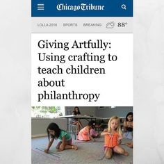 So excited to share an article written about our Giving Artfully Kids program in our local paper - Oak Leaves, a suburban division of the Chicago Tribune!  Thank you Oak Leaves and Caitlin Mullen for this feature!! Let us know if you're interested in brin