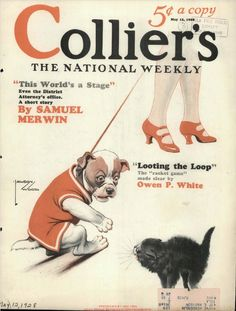 COLLIER'S MAGAZINE; jUN 27, 1936 Paul Clowes Western Cover Cowboy Knitting