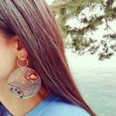 Red Moon earrings Unique resin art Inspiration : #romance , #seaatnight #redmoon Red Moon, Moon Earrings, Unique Earrings, Resin Art, Romance, Jewelry Art, Crochet Earrings, Instagram, Inspiration