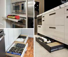 Condo Kitchen, Kitchen Interior, Kitchen Storage, New Kitchen, Kitchen Dining, Kitchen Decor, Kitchen Cabinets, Kitchen Appliances, Casa Clean