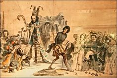 Cette gravure représente Hugo, Dumas père, et Balzac qui se hâtent vers la porte de l'Académie française. Que caricature-t-elle ?