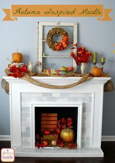 A Glimpse Inside My Autumn Inspired Mantle Trinity Nelson Fireplace Redo Ideas