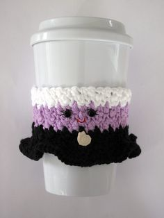 Ursula Coffee Cup Cozy de ganchillo