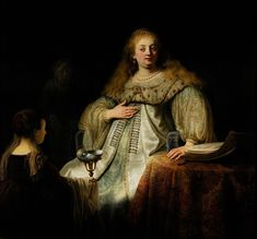 Rembrandt Harmenszoon van Rijn (Dutch 1606–1669) [Dutch Golden Age, Baroque] Sophonisba, Receiving the Poisoned Cup, 1634. Oil on canvas, 142 x 153 cm. Museo del Prado, Madrid.