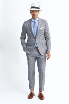 Hickey Freeman | Men's Fashion | Menswear | Men's Style | Men's Outfit for Spring/Summer | Windowpane Suit | Moda Masculina | Shop at designerclothingfans.com