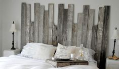 Old barn wood - tongue and groove.  Wow, that looks really nice.  I love this rustic look.