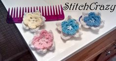 Flower Hair Ties by StitchCrazy123 on Etsy