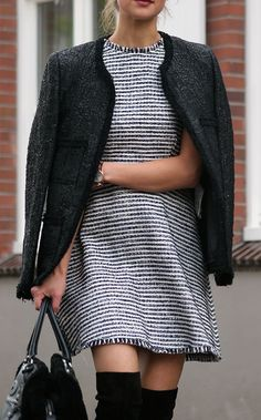 #street #style / knit dress + coat