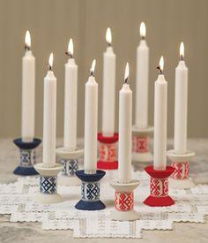 scandinavian christmas candle holders. yes!