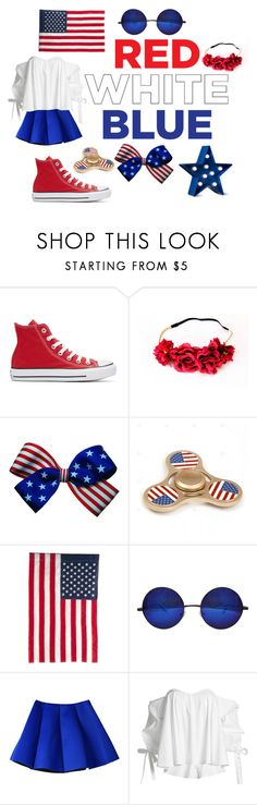 """""""Let freedom ring"""" by jofoulkrod ❤ liked on Polyvore featuring Converse, Evergreen Enterprises, Caroline Constas and POPTIMISM!"""