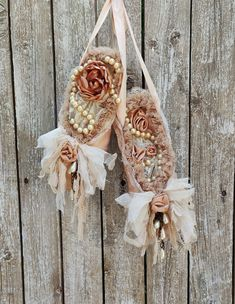 Shabby Ballet Pointe Shoes, Ballet Wall Decor, Shabby Cottage French Nordic Decor, Nursery Decor, Dance Decor, Decorated Shoes, Ballerina Pearl Necklace Vintage, Vintage Pearls, Vintage Lace, Dance Decorations, Wedding Decorations, Shabby Cottage, Shabby Chic, Nursery Decor, Wall Decor