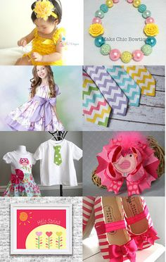 Spring is in the Air! by Laura Potter on Etsy--Pinned with TreasuryPin.com #spring #childrens #homedecor #clothing #accessory