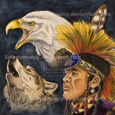 Native American Art Paintings spirit animals | deviantART: More Like Native Ten Commandments by ~justincmgreen