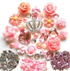 Diy Rhinestones Crown Bling Bling Cell Phone Case Resin Flatback Kawaii Cabochons Deco Kit Set#kawaii (bling out your cellphone)