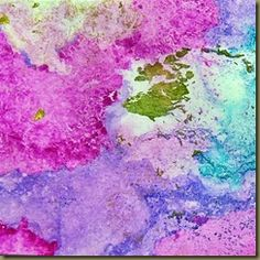 Marbling with alcohol inks and water.