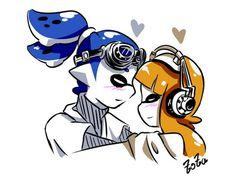 Nintendo Splatoon, Splatoon 2 Art, Splatoon Comics, Steven Universe Comic, Couple Relationship, Indie Games, Equestria Girls, Super Smash Bros, Doughnut