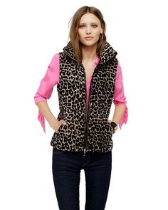 Snagged it! Vest Coat, Puffer Vest, New Outfits, Winter Outfits, Outerwear Women, Sweater Weather, Juicy Couture, My Style, Cheetah