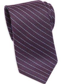 Egara Purple Herringbone Skinny Tie