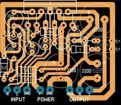 Dc Circuit, Circuit Diagram, Hobby Electronics, Electronics Projects, Circuit Board Design, Electronic Kits, Stereo Amplifier, Layout Design, Ideas