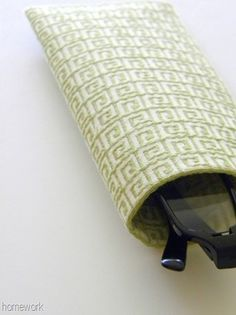 homework: creative inspiration for home and life: Sew and Tell: diy fabric eyeglass case {no sew}