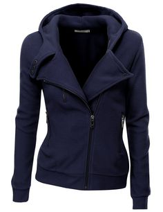 Oooo, me too! Navy, Size M. :) Doublju Women's Fleece Zip-Up High Neck Jacket at Amazon Women's Clothing store: Fleece Outerwear Jackets