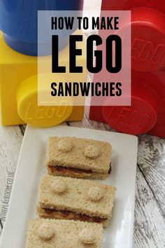 How to make Lego sandwiches. Super easy and cute idea for a Lego Birthday Party. I think my kids would also get a kick out of these packed in their school lunches too!
