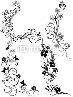 #Tattoo #Ornamental #Floral #Elements-Vector © #Bluedarkat - on #Fotolia!