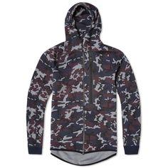 Nike Tech Fleece Camo AW77 Hoody (Obsidian & Black)