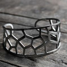 Image of Faceted Silhouette Cuff Bracelet