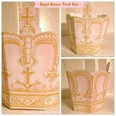 Royal crown treat favor box: / / by Piggy Bank Parties