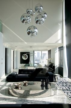 Rosamaria G Frangini | Architecture Interior Design | Black Details for a Modern Living