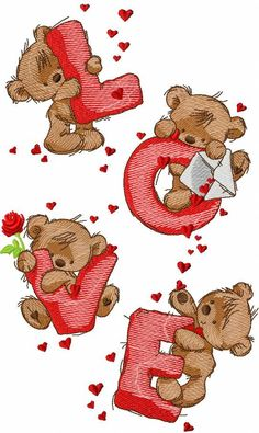 Teddy Bears and friends embroidery designs biggest collection with one styles designs. Several sizes for every design. Embroidery Stitches Tutorial, Free Machine Embroidery Designs, Hand Embroidery Patterns, Embroidery Techniques, Cross Stitch Patterns, Cross Stitch Kits, Teddy Bear Pictures, Bear Wallpaper, Tatty Teddy