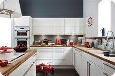 cuisine pur blanc et bois