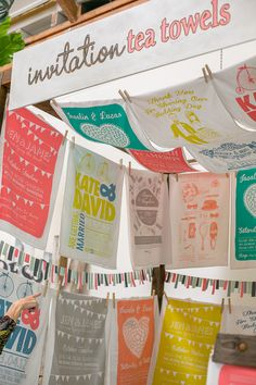 Explosion of colour and clever design by Invitation Teatowels